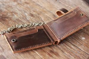 Кожаный кошелек своими руками фото