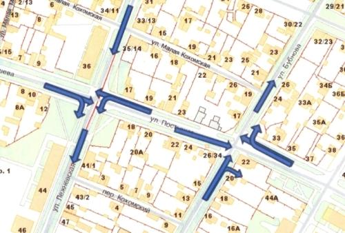 С 5 ноября 2011 года в Иванове меняется схема организации дорожного движения в транспортном узле ул. Лежневская - ул...