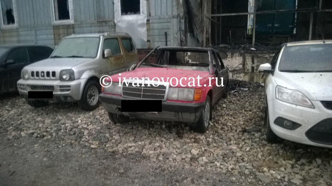 ВИванове сгорел автосервис с13 автомобилями